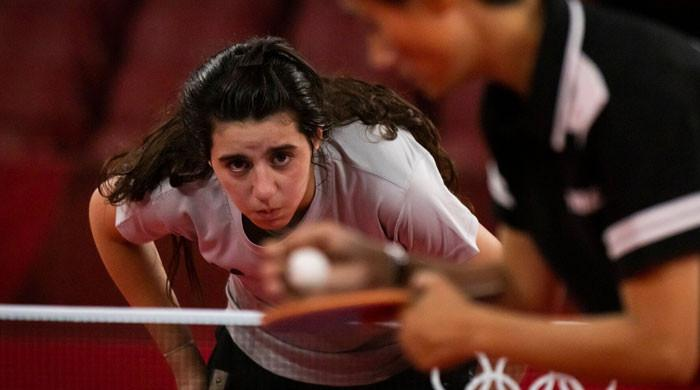 Syria's Zaza, Olympics' youngest athlete, is proud despite table tennis defeat