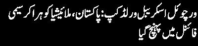 virtual world scrabble cup Pakistan Malaysia ko hara kar semi final mein pahunch gaya