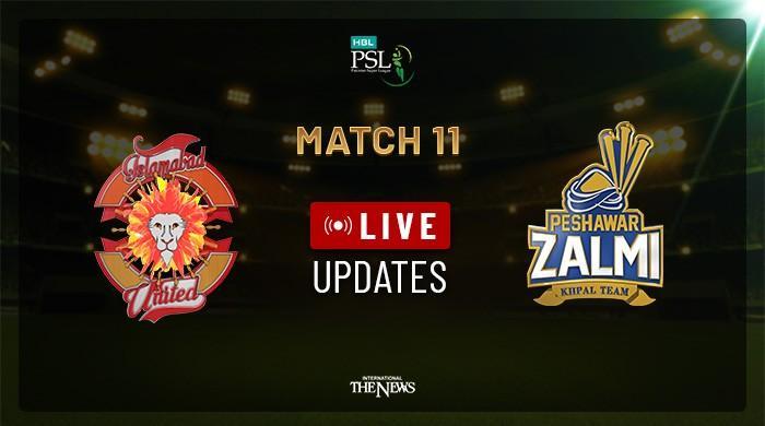 PSL Live Cricket Score Match 11: Islamabad United set 159 runs target for Peshawar Zalmi