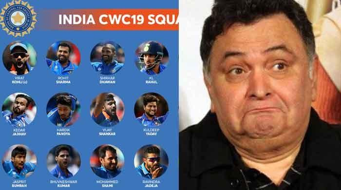 Rishi Kapoor not happy with Indian team for World Cup