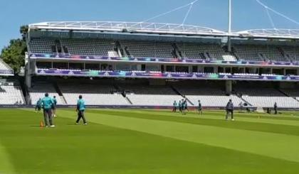 Pakistan team trains at Lord's ahead of South Africa game