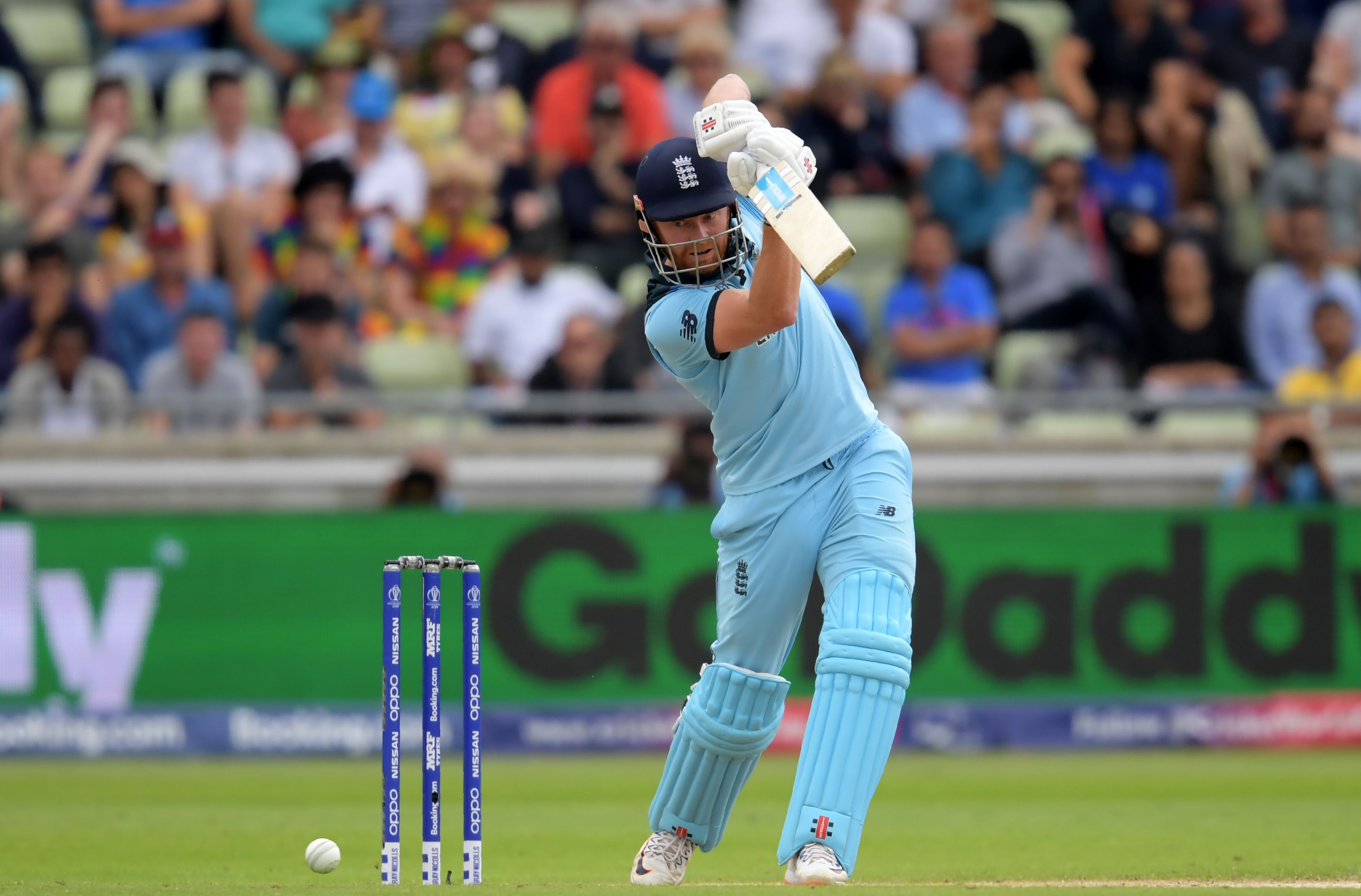 Jason Roy plays a shot during the 2019 Cricket World Cup. Photo: AFP