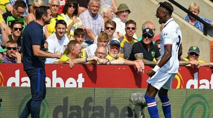 Abraham double fires Chelsea to first win of Lampard´s reign
