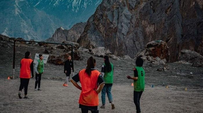 Female footballers trek 4 hours to Gilgit to play 'gender equality match'