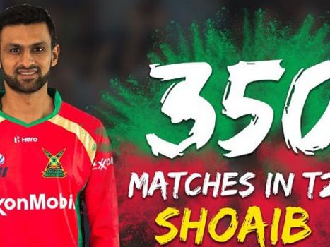 Shoaib Malik first Pakistani cricketer to join the list of T20 elites after 350 matches