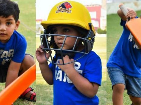 Watch Sarfaraz Jr. take a swing