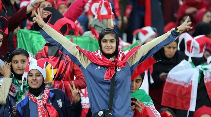 Iranian women flock to watch football match after lift of decade old ban