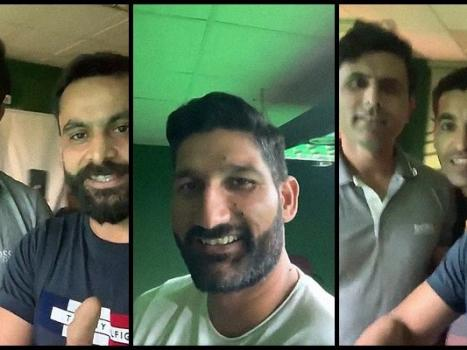 Hafeez publicly accepts defeat against coach Razzaq in friendly snooker competition
