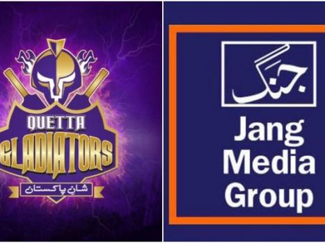 Quetta Gladiators declare Jang Group as media associate.