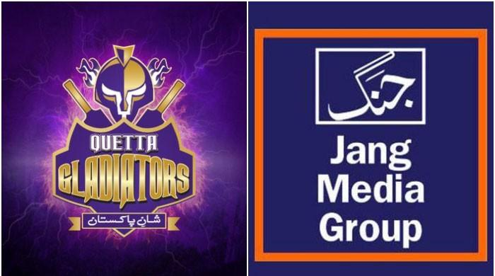 Quetta Gladiators declare Jang Group as media associate.