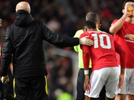 Man Utd rocked as Rashford ruled out for at least six weeks