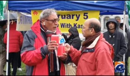 Kashmir Solidarity Day- KC-EU holds candlelight vigil in Belgian capital