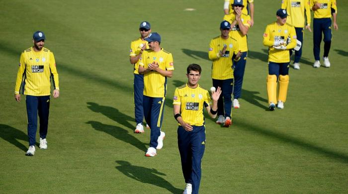 Vitality Blast: Hampshire star Shaheen Afridi takes 4 in 4 to stun Middlesex