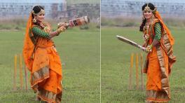 Bangladesh batswoman Sanjida Islam's cricket-style wedding photos go viral