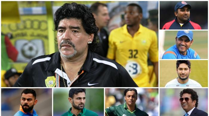 Cricketers mourn Maradona's death on Twitter