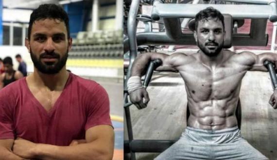 Iran main No jawan Werstler Ko phansi day di gayi