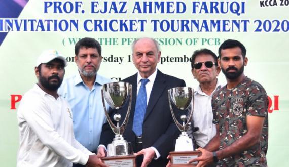 pakisatn cricket club nay Ejaz Farooqi Cricket Tournament jeet liya