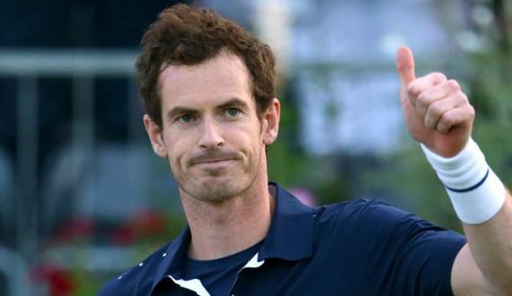 Andy Murray colonge international tennis tournament kay pehle round say hi bahar