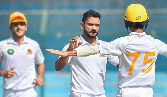 quaid e azam trophy central punjab kay sindh kay khilaf 9 wickets par 205 runs