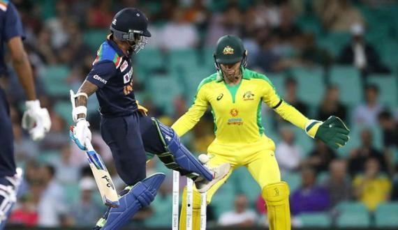 First ODI Australia won the match 66 Runs Against India