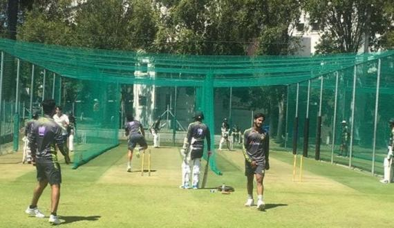pakistan junubi africa ki teams practice kay liye stadium pohanch gai