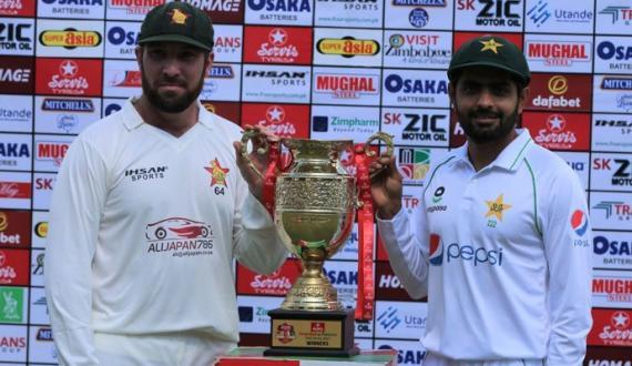 pakistan aur zimbabwe kay darmiyan pehla test match ajj khela jaye ga