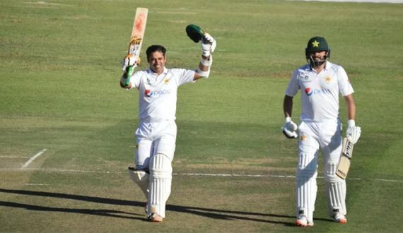 Doosray Test ka pehla din Pakistan 4 Wicket per 268 runs