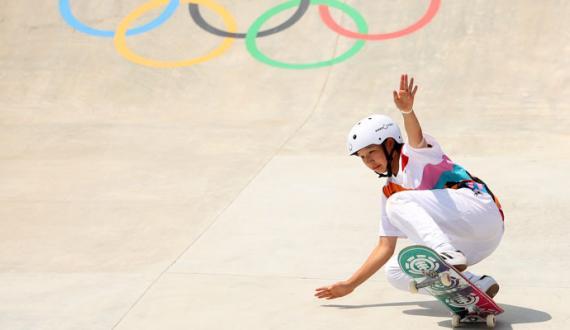 olympics japan ki 13 sala NISHIYA Momiji nay tareekh raqam kardi