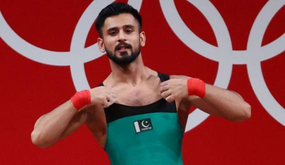 weightlifter talha talib qoum kay mashkoor