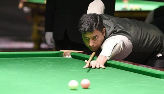 National Snooker Asif Again won the match