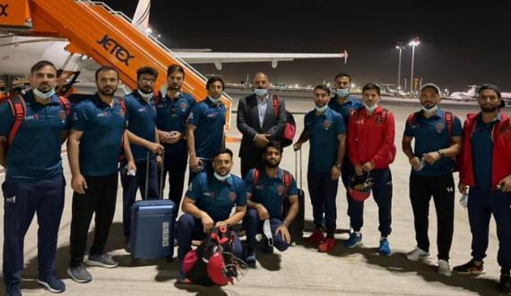 Afghanistan cricket team dubai pohanch gai