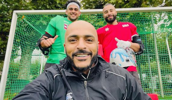 qomi hockey team kay sabiq captain salman akbar amreki hockey team kay coach muqarar